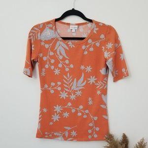3/20$ LulaRoe Orange Short Sleeve Workout Shirt